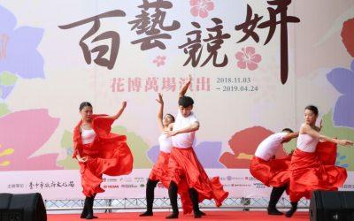 台中花博藝文展演逾萬場 天天有表演。(記者劉秝娟翻攝)