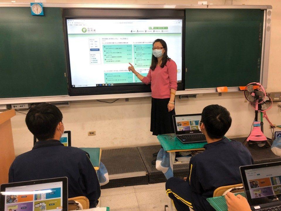 中市線上視訊教學演練計畫 超前部署讓學生學習不中斷。(記者林志強翻攝)