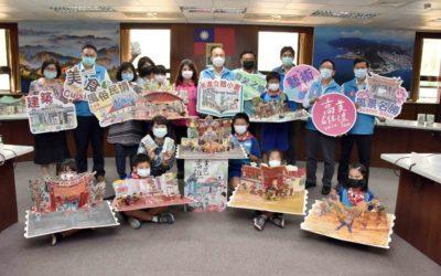 客華英三語攏ㄟ通!美濃Style立體書發表 韓國瑜讚嘆學童巧思。(記者劉明吉翻攝)