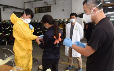 緊急救護防疫做到最好 消防局辦講習。(記者張光雄翻攝)