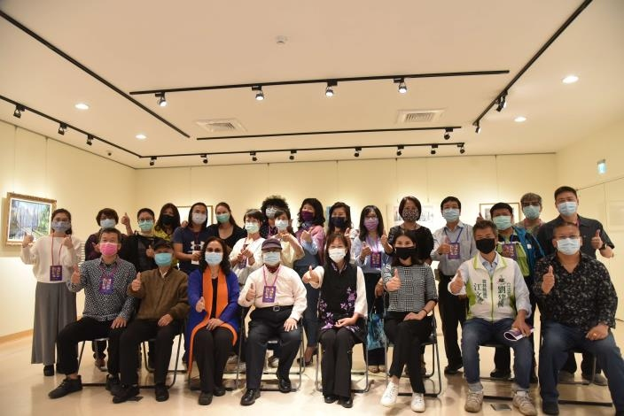 2020亞洲國際藝術交流展「雲林藝起幸福」。(記者張達雄攝影)