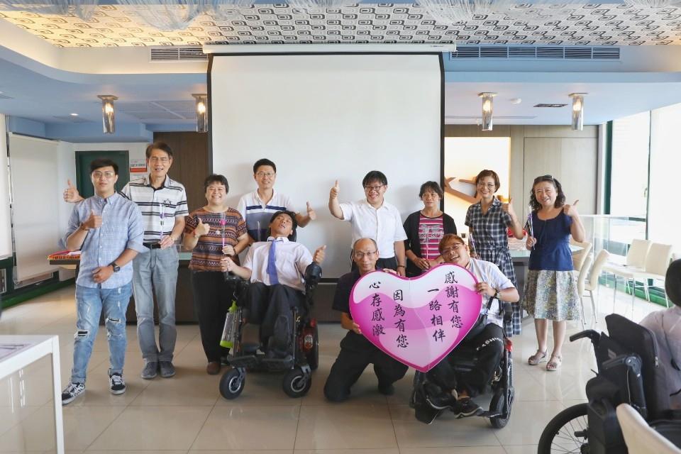 環科大身心障礙生感恩幸福學習 環球科技大學舉辦身障生送舊餐會。(記者張達雄攝影)