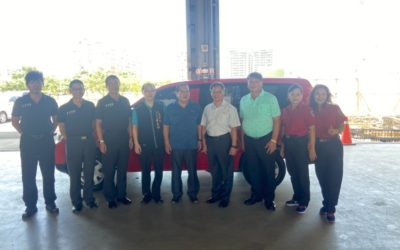企業聯合捐贈消防警備車 提升海線防災能量。(記者林俊維翻攝)