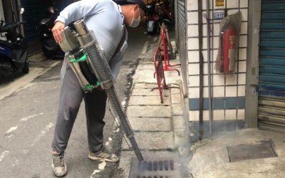 桃園新北2市聯防 加強邊界防治滅登革。(記者黃遠山翻攝)